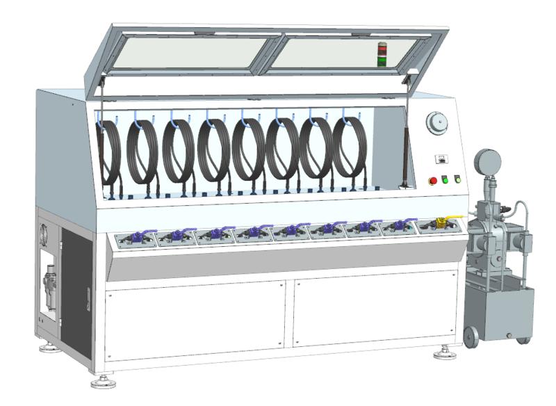 水壓試壓高壓測試機多工位